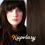 CLIP IN OFINA - 100% lidské vlasy - tmavě hnědá #2