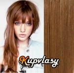 CLIP IN OFINA - 100% lidské vlasy - nejsvětlejší hnědá #12