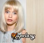 CLIP IN OFINA - 100% lidské vlasy - platinová blond #60