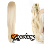 Clip culík na skřipci rovný - platinová blond #60