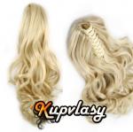 Clip culík na skřipci vlnitý - platinová blond #60