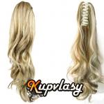 Clip culík na skřipci vlnitý - melír popelavě-beach blond #60/16