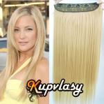 Clip in 100% lidský pás 51 cm - beach blond #613