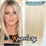 Clip in 100% lidský pás 61 cm - platinová blond #60