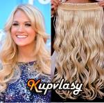 Clip in 100% lidský vlnitý pás 41 cm - beach blond #613