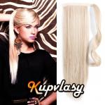 Clip in 100% lidský culík 50cm - platinová blond #60
