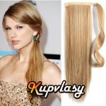 Clip in 100% lidský culík 50cm - melír přírodní světlejší blond #18/22