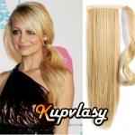 Clip in 100% lidský culík 60cm - přírodní blond #22