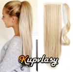 Clip in 100% lidský culík 60cm - beach blond #613