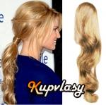 Clip in 100% lidský vlnitý culík 50cm - přírodní blond #22