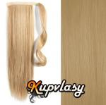 Clip in kanekalonový cop rovný - přírodní blond #22