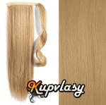 Clip in kanekalonový cop rovný - melír přírodní světlejší blond #18/22