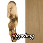 Clip in kanekalonový cop vlnitý - přírodní blond #22