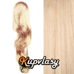 Clip in kanekalonový cop vlnitý - beach blond #613