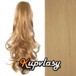 Clip in kanekalonový cop kudrnatý - přírodní blond #22