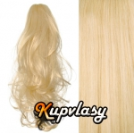 Clip in kanekalonový cop kudrnatý - beach blond #613