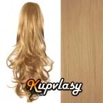 Clip in kanekalonový cop kudrnatý - melír přírodní světlejší blond #18/22