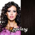 Clip in kudrnaté vlasy 51 cm, 100 g - přírodní černá #1b