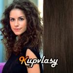 Clip in kudrnaté vlasy 51 cm, 100 g - tmavě hnědá #2