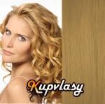 Clip in kudrnaté vlasy 51 cm, 100 g - přírodní blond #22
