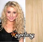 Clip in kudrnaté vlasy 51 cm, 100 g - beach blond #613