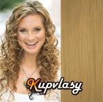 Clip in kudrnaté vlasy 51 cm, 100 g - melír přírodní světlejší blond #18/22