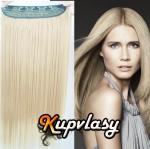 Clip in pás z kanekalonu 61 cm - platinová blond #60