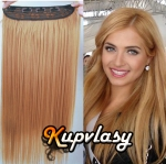 Clip in pás z kanekalonu 61 cm - melír přírodní světlejší blond #18/22