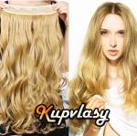 Clip in pás z kanekalonu 61 cm vlnitý - přírodní blond #22