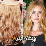 Clip in pás z kanekalonu 61 cm vlnitý - melír přírodní světlejší blond #18/22