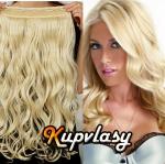 Clip in pás z kanekalonu 61 cm vlnitý - beach blond #613