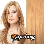 Clip in vlasy 38 cm, 105 g - melír přírodní světlejší blond #18/22