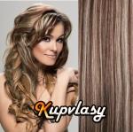 Clip in vlasy 38 cm, 105 g - tmavý melír #4/27