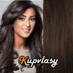Clip in vlasy 38 cm, 105 g - tmavě hnědá #2