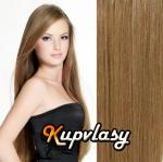 Clip in vlasy 38 cm, 105 g - nejsvětlejší hnědá #12