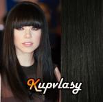 Clip in vlasy 41 cm, 70 g - přírodní černá #1b