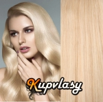 Clip in vlasy 41 cm, 70 g - beach blond #613