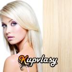 Clip in vlasy 41 cm, 70 g - platinová blond #60