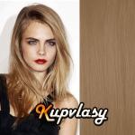 Clip in vlasy 51 cm, 100 g - melír přírodní světlejší blond #18/22