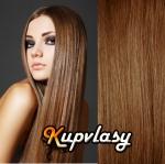 Clip in vlasy 51 cm, 100 g - nejsvětlejší hnědá #12