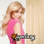 Clip in vlasy 51 cm, 100 g - beach blond #613
