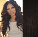 Clip in vlnité vlasy 51 cm, 100 g - přírodní černá #1b
