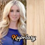 Clip in vlnité vlasy 51 cm, 100 g - beach blond #613