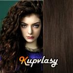 DELUXE clip in kudrnaté vlasy 51 cm, 200 g - tmavě hnědá #2