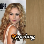 DELUXE clip in kudrnaté vlasy 51 cm, 200 g - přírodní blond #22