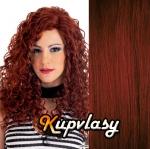 DELUXE clip in kudrnaté vlasy 51 cm, 200 g - měděná #350