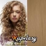 DELUXE clip in kudrnaté vlasy 51 cm, 200 g - melír přírodní světlejší blond #18/22