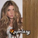 DELUXE clip in vlasy 41 cm, 140 g - nejsvětlejší hnědá #12