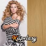 DELUXE clip in vlasy 51 cm, 200 g - přírodní blond #22