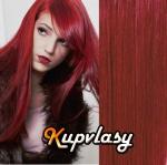 DELUXE clip in vlasy 51 cm, 200 g - měděná #350